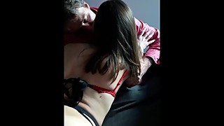 Husband hold's his wife while i fuck her