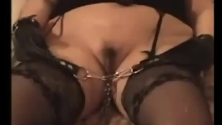 Augusta- A slut wife in bondage, gagged and blindfolded all night and final