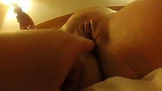 Wife solo squirting while I spread her pussy pulsating open view