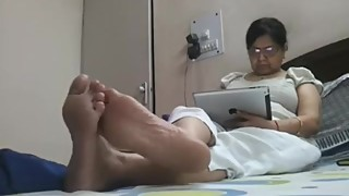 Candid Indian Wife meaty soles
