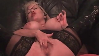 My MILF Exposed Busty mature ins tockings and boots Dildo