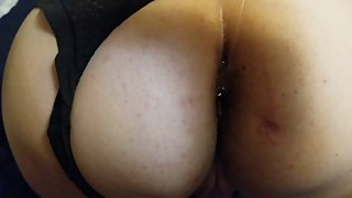 Putting in my wife's butt plug and fingering her to orgasm