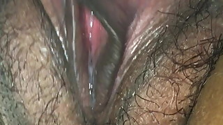 Wife playing with dripping pussy