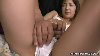 Japanese housewife, Nami Honda lets the neighbor satisfy her, uncensored