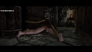 Skyrim - Argonian Fucks the Blacksmith's Wife in Secret