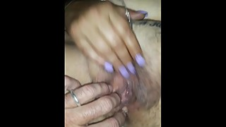 Fingering Wifey's Cum Filled Pussy