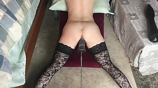 My wife can take all a huge fuck machine can give