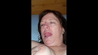Finger wife's slut cunt till she cums then squirts
