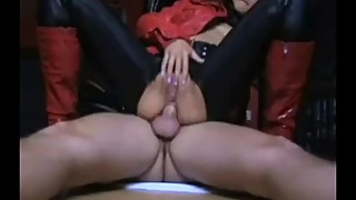 Mature German Wife in Leather Jacket and Boots Fucking
