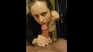 Blonde Wife Sucking Cock