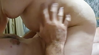 Lucky guy gets rode by my slut wife