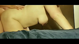 Real busty amateur housewife homemade fuck vid