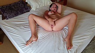 Slut wife fingering herself and giving head
