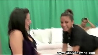 CFNM loving freak gets her pussy tapped