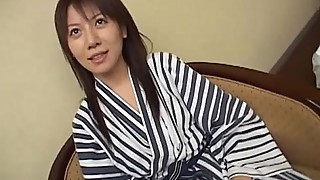 Subtitled unfaithful Japanese wife gives actor a blowjob