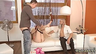 Husband wife kissing Unexpected practice with an older gentleman