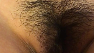 Asian wife hairy pussy fingered