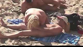 Sharing wife at beach