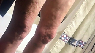 Another voyeur video from behind sexy mature wife shaved pus