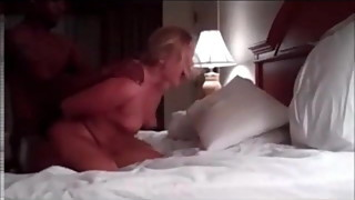Velvet Swingers Club blonde MILF fucking black BBC bull
