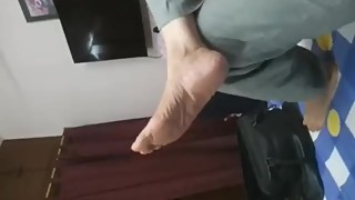 Candid Indian Wife Foot Dangle!