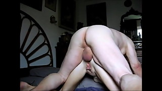 Grandpa likes to fuck his wife's ass and cum inside