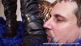 Licking Your Wife's Boots While She Eats Cookies