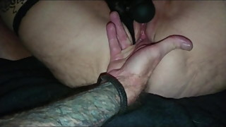 Wife orgasm with my finger and vibrator