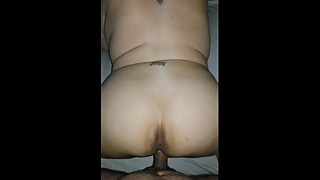 Latina wife taking from the back while I cum inside her