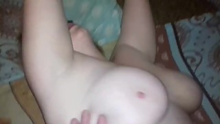 Fuck hotwife with big tits in her cool pussy