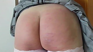 Caning wife in office - 180 strokes