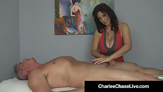 Happy Ending With Busty Milf Charlee Chase & Handjob Heaven!