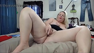 Mature cheating blonde wife with big butt