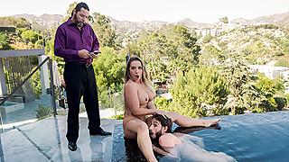 Bell Boy Takes Care Of Guest's Wife, Cali Carter