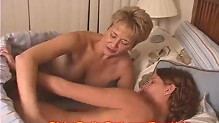 Wife and Babysitter hot lesbian sex