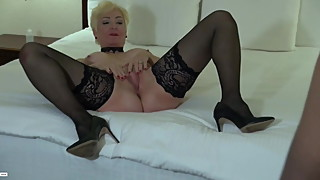 Blonde Cougar Gets hold Of Good Black . BBC Lover