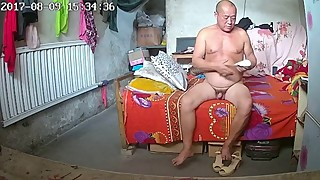 Chinese Red Neck Bold Mature Fucks His Wife