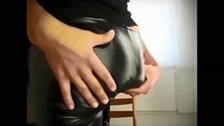 my wife's stunnung leather leggings - allcamsclub.com