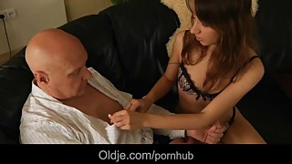 Old man fucking his sexy and horny young wife