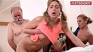 LETSDOEIT - Kinky Daddy Fucks His MILF Wife And Stepdaughter (Klara &amp_ Sparta)