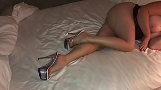 Hot sexy wife in heels and sexy legs