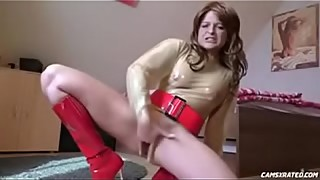 Slutty German Step Mom In Latex