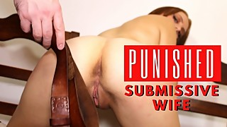 Punished Redhead Teen Wife is Creampied After Rough Sex and Spanking