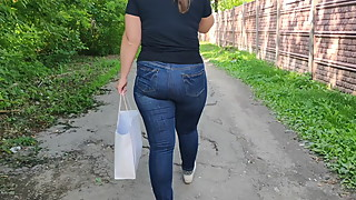 Fat ass milfs in tight jeans