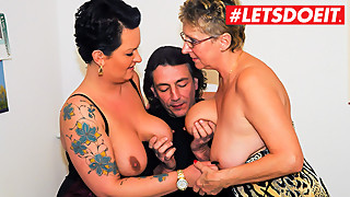 LETSDOEIT - German Married Couple Share Everything (FFM Sex)