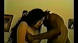 vintage wife loves two black cocks
