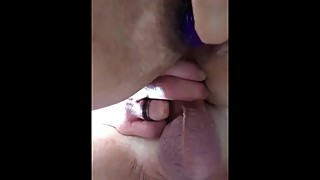 Fucking my slut wife in ass close up
