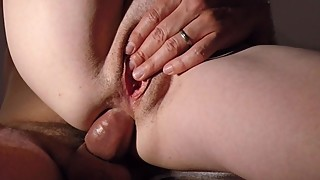 Married guy fucked me in the kitchen while his wife went out. Anal finish!