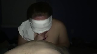 Slutty blindfolded wife getting facial - add on snapchat:- jbae.69