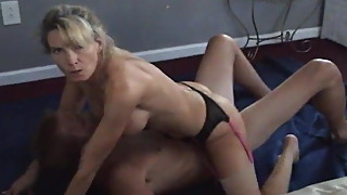 Hotwife riding bull and mocking cuckold